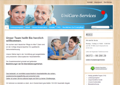 Website UniCare Services