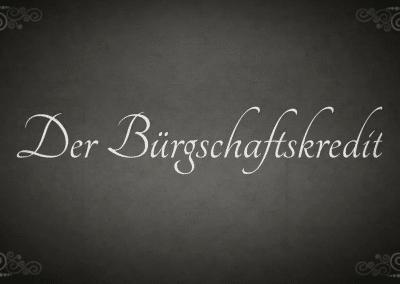 """""""Der Bürgschaftskredit"""" Stummfilm Berufsschule KL"""