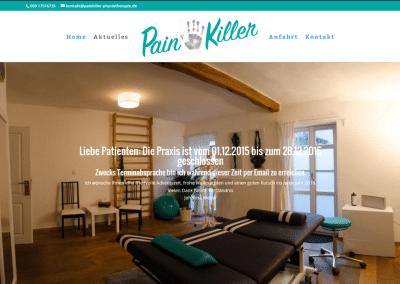 Webseite für Painkiller Physio in Frankfurt