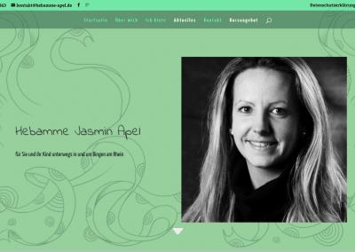 Eine Webseite für Hebamme Jasmin Apel